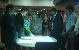 Former President of India observing the presentation in iTable